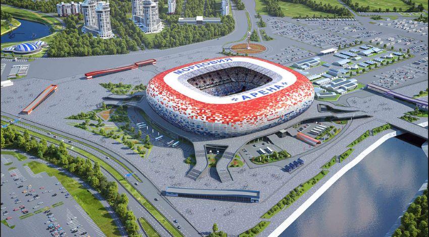 Генплан стадиона в Саранске