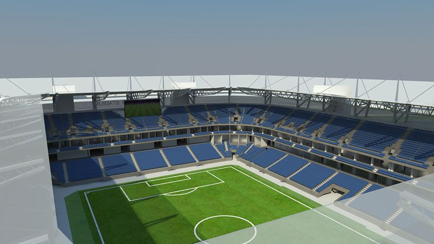 Футбольный стадион в Калининграде
