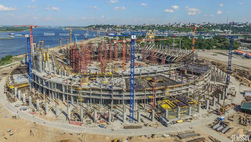 Нижний Новгород строительство стадиона