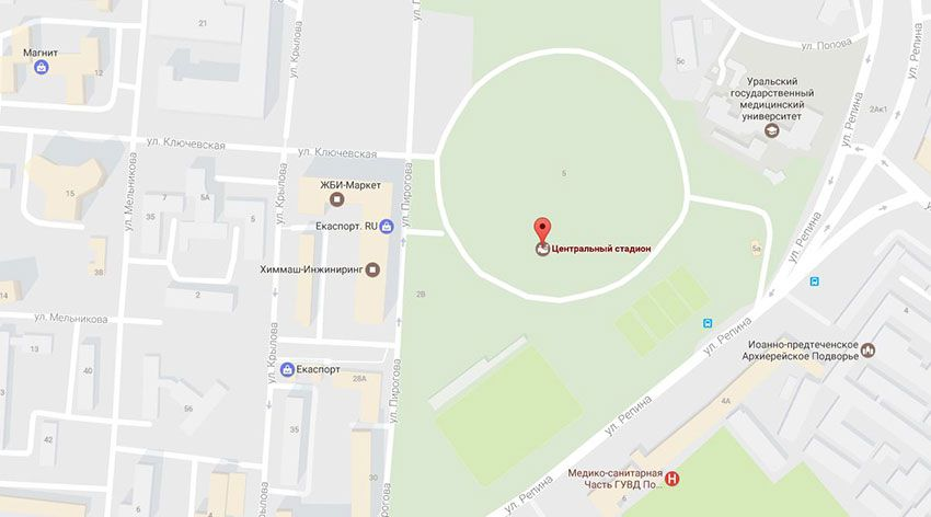 Арена в Екатеринбурге адрес стадиона на карте