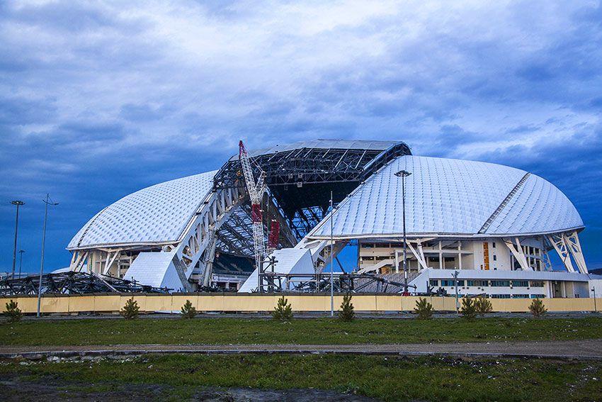 Футбольный стадион в Сочи 2018 года