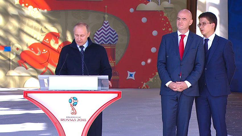 Путин на запуске волонтеров