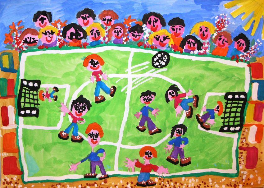 Самара рисует футбол