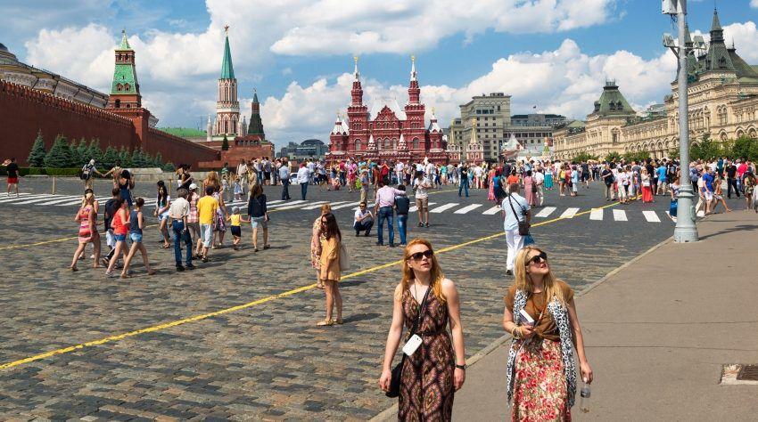 Туристы в России во время ЧМ-2018