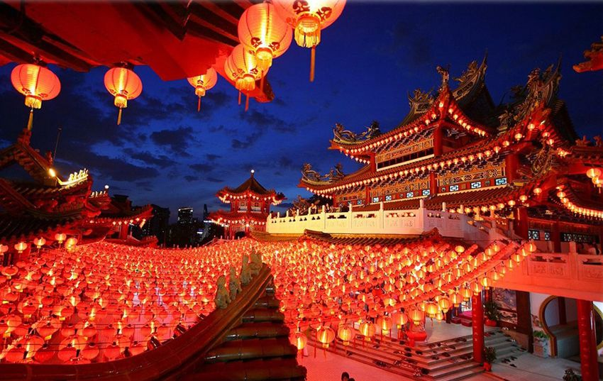 Праздник новый год в Китае