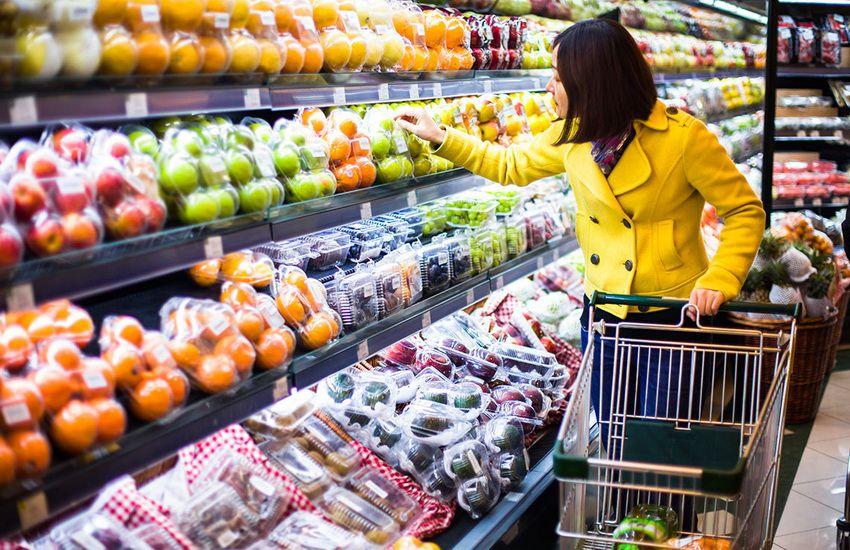витрина в супермаркете
