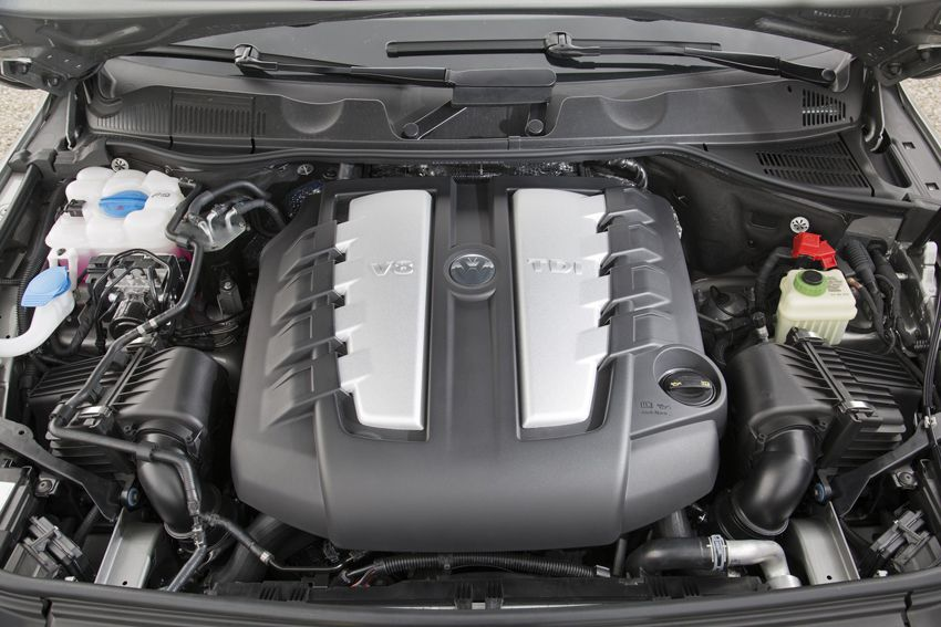 Фото двигателя нового Фольксваген Туарега 2018 модельного года