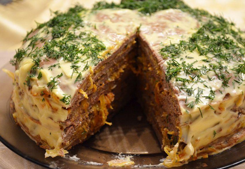 мясной торт в подарок папе на Новый 2018 год
