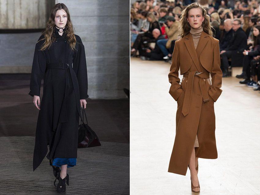 длинные пальто 2018 года - фото женских и мужских пальто
