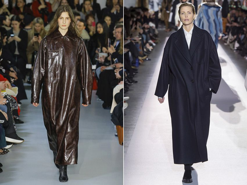 длинные пальто оверсайз - мода 2018 года