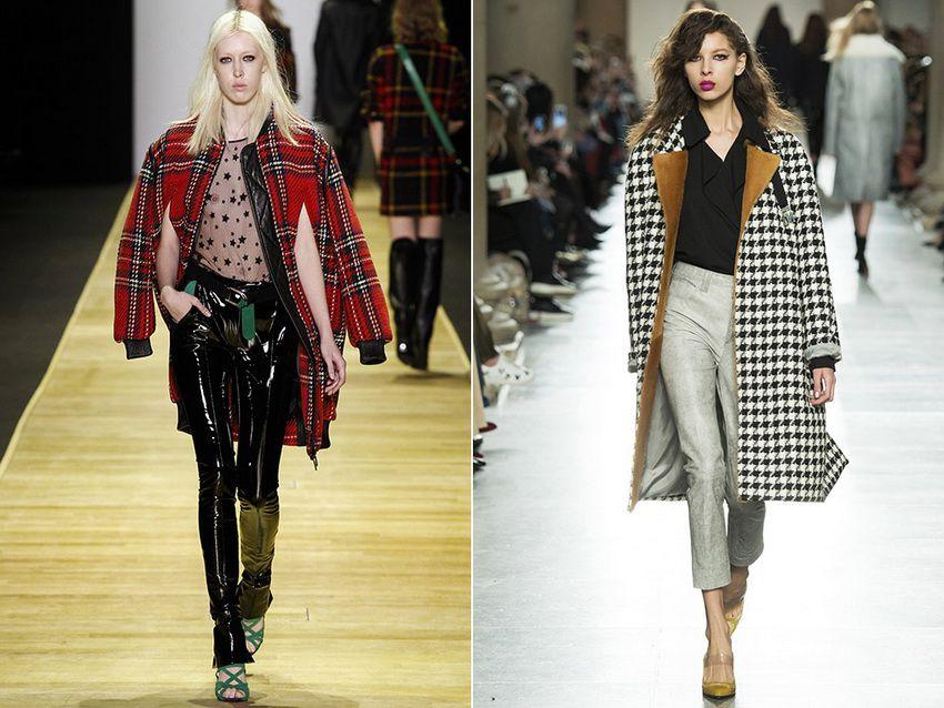 клетчатые пальто 2018 года - модные тенденции - фото 2017 года
