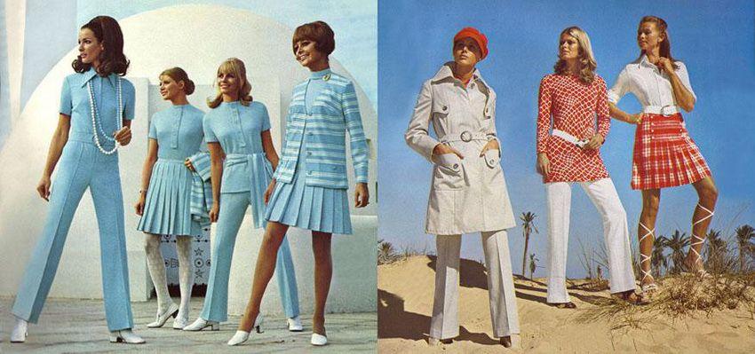 Юбки - мода 70-х годов