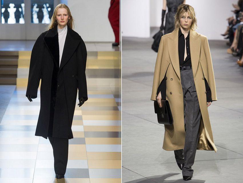 модные пальто оверсайз 2018 года