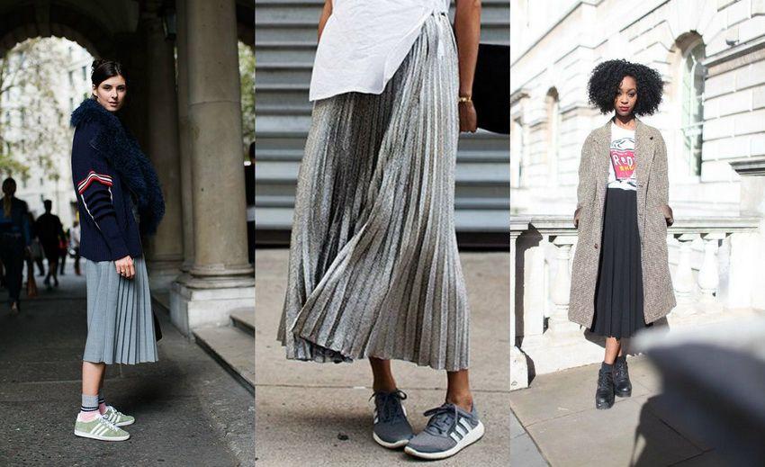 плиссированные юбки 2018 года - модные тенденции