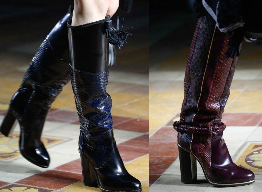 Сапоги осень зима 2018 года - модные тенденции на обувь