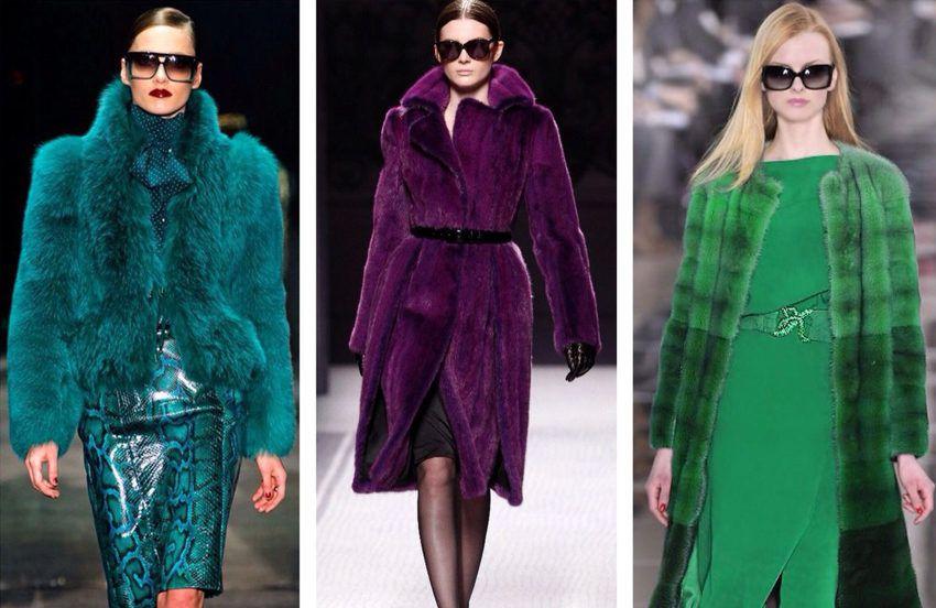 Шубы из цветного меха - тенденции моды верхней одежды 2018 года зима-осень - фото 2017 года