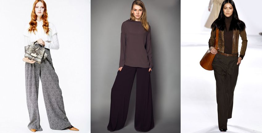 Широкие брюки - мода на зиму 2018 года