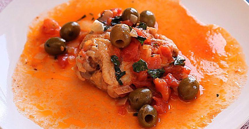 Каччиатори из курицы - фото горячего блюда на новогодний стол