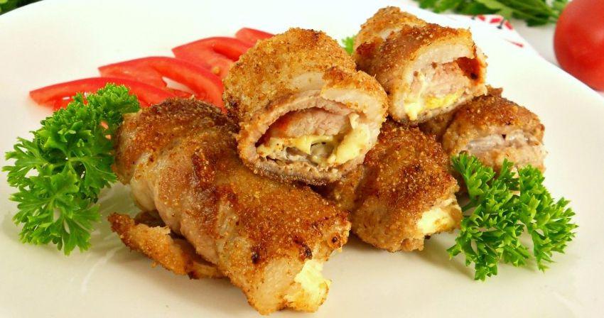 Рулетики из свинины - новогодний рецепт горячего блюда
