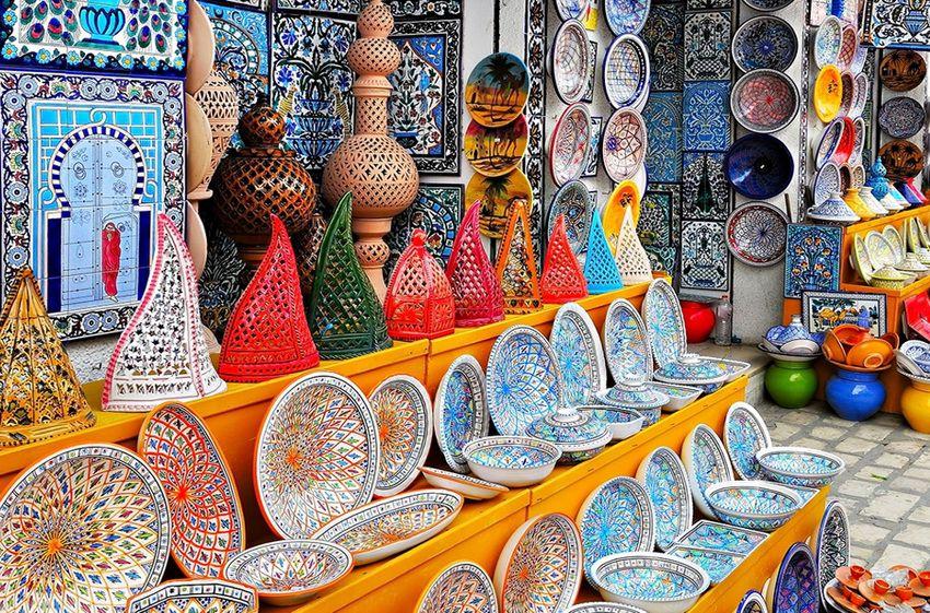 рынок сувениров в Тунисе
